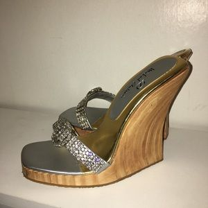 Wood and Crystal Strap Wedges